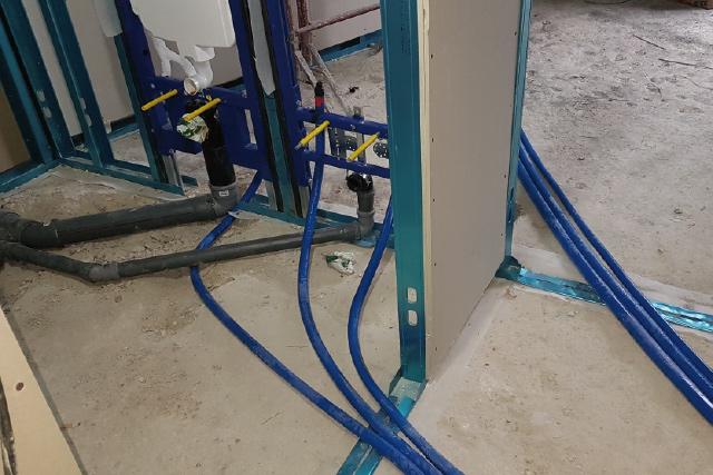 impianto idrico bidet sospeso