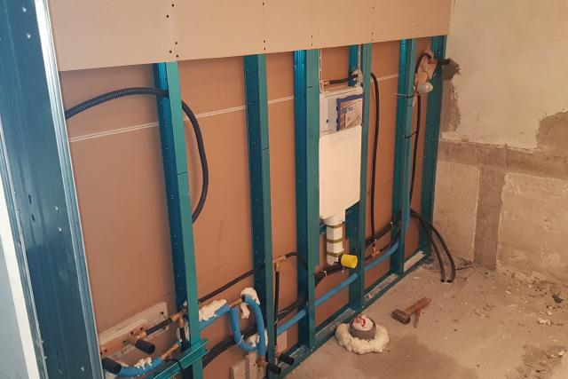 impianto idrico e cassetta geberit incasso