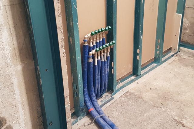 impianto idrico a collettore